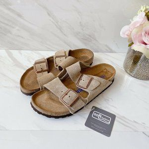🆕Birkenstock Arizona Sandal Taupe Suede Leather